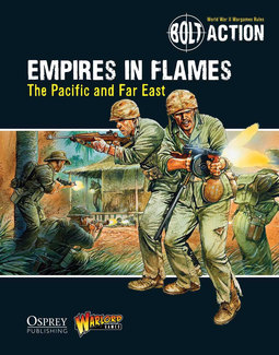 Empires in Flames Front Cover from Warlord Games. Battles pitched between the Japanese and U.S. Marines.