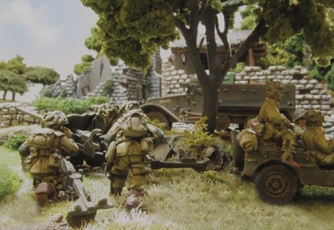 A US Aireborne anti-tank team takes aim at oncoming German armour.  Hopefully they've not gone a bridge too far...